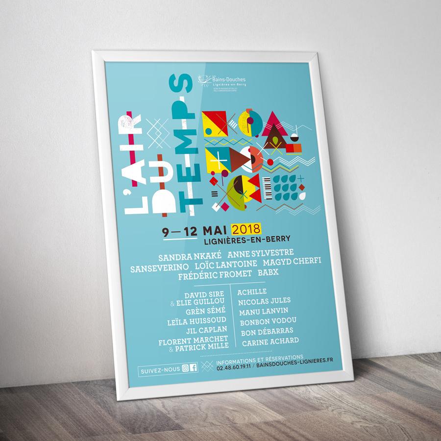 Festival l'Air du Temps 2018 affiche