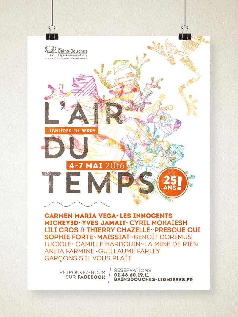 Festival l'Air du Temps 2016 affiche