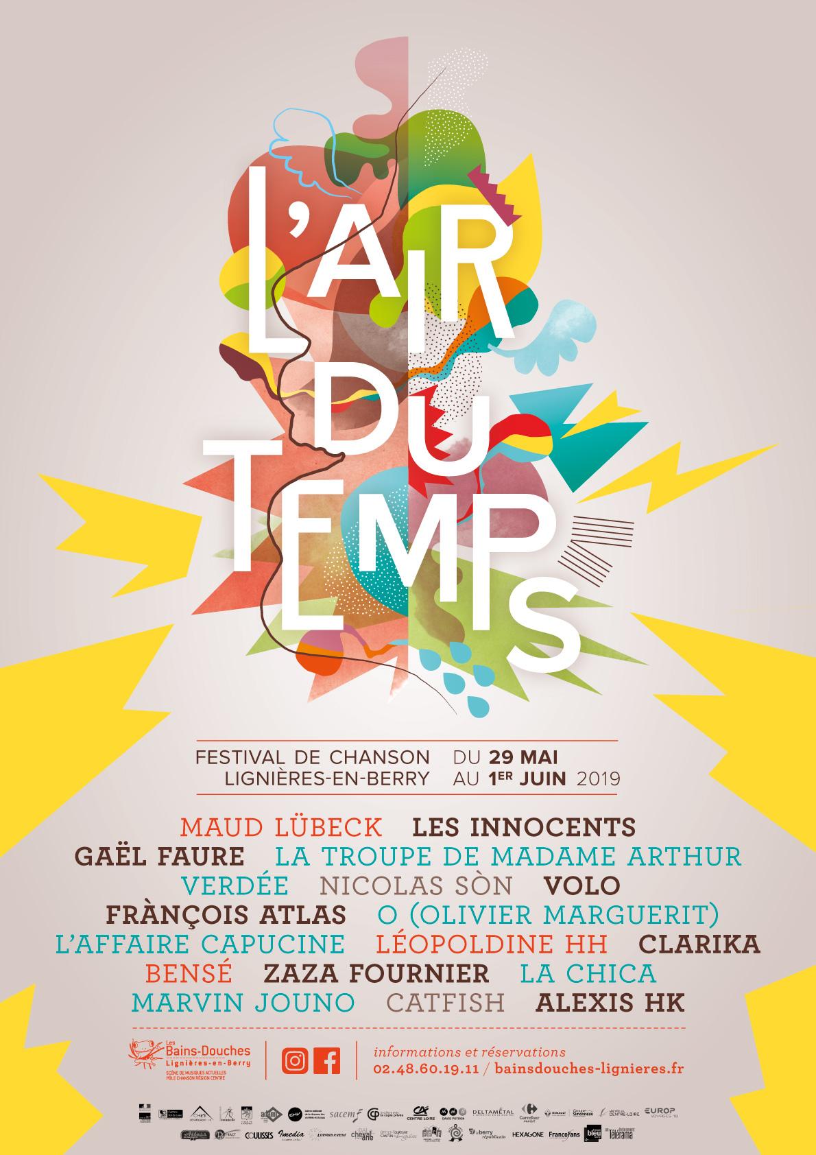Festival l'Air du Temps 2019 affiche