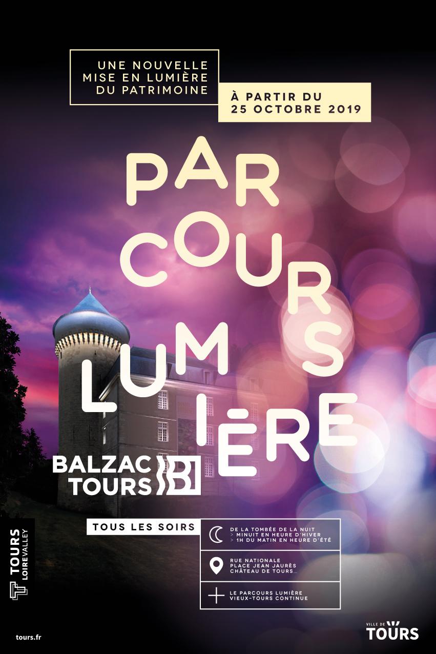 Parcours Lumière Tours Balzac